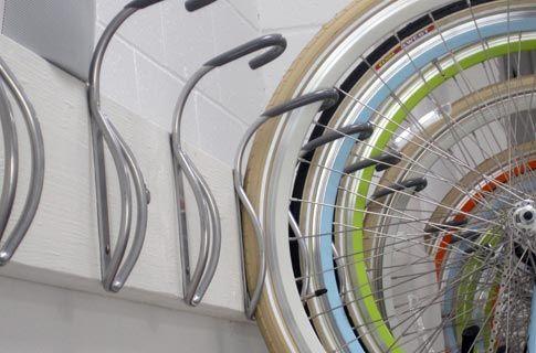 Leonardo Wall Hook for bike storage. Simple, efficient, cheap. For the garage.