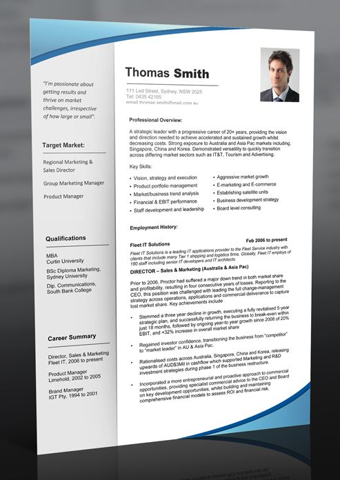 10 Best Sample Resumes & Professional Resume Templates Images On