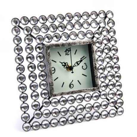Add some bling to your space #kirklands #glamchicIdeal Offices, Desks Clocks, Closets Offices, Clocks Face, Kirkland Glamchic, Diamonds Desks, Art Deco, Clocks Features, Squares Clocks