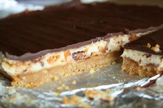 Butterfinger Nutter Butter Cheesecake Bars