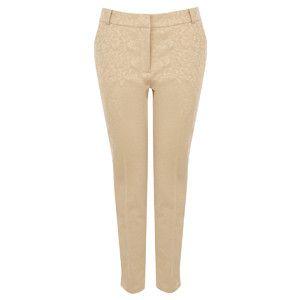 OASIS Jaquard Slim Leg Trousers