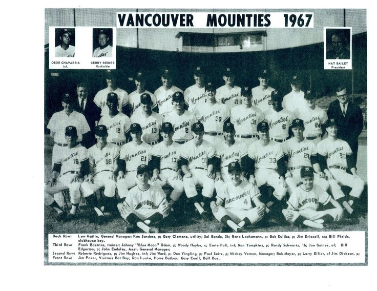 1967 Vancouver Mounties (AAA affiliate of the Kansas City Athletics)