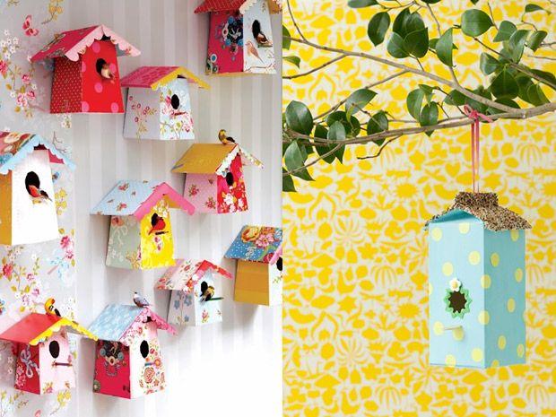 Le casette per uccelli fai da te tetrapak pinterest for Casette per conigli fai da te