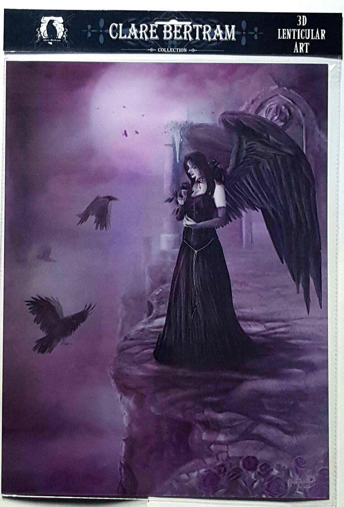 Brand New Licensed 3D Lenticular Art Clare Bertram Violet Dreams Angel Print