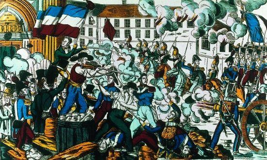 Révolte des canuts de Lyon, 21 nov 1831. - En nov 1831, les canuts se voient refuser une augmentation par les soyeux et déclenchent une grève qui tourne à l'insurrection. Maîtres de la ville pendant une 10° de jours, cette révolte est matée brutalement (un millier de victimes)et a un caractère social; en cela, elle est la 1° manifestation spécifique du mouvement ouvrier. La 2° (avril1834), maîtrisée après plusieurs jours de combat, est à rapprocher des émeutes républicaines contre…