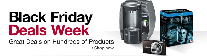 Amazon.co.uk:Black Friday Deals Week. Great Deals on Hundreds of Products. Shop now.    Christmas / Xmas shopping season is hear. Bargain hunting begins. :)
