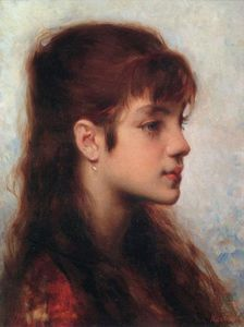 Alexei Alexeievich Harlamoff - Head Of A Girl