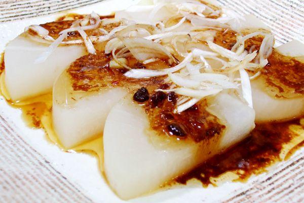 Daikon with Douchi Sauce  大根のレンジ蒸し 豆鼓ソースがけのレシピです。