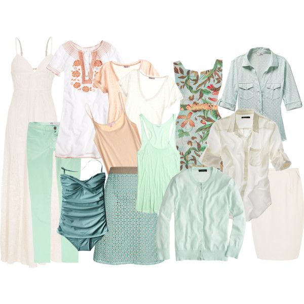 """""""Vacation wardrobe"""" by ketutar on Polyvore - This is a collection; 14 pieces, 38 outfits... http://www.outfitposts.com/2012/12/summary-one-suitcase-beach-vacation.html"""