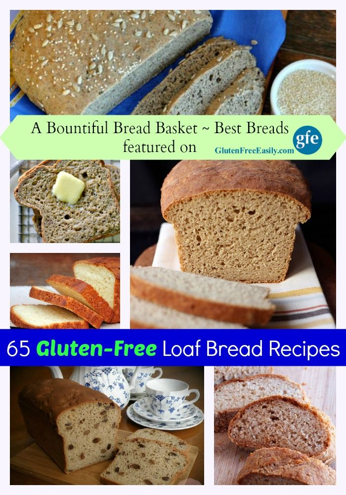 "Wow! 65 More of the Best Gluten-Free Loaf Bread Recipes, whether you're ""just gluten free,"" gluten free and dairy free, paleo, vegan, etc.  via @shirleygfe"