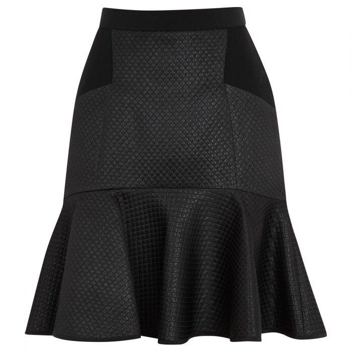 DKNY Matelassé Cotton Blend Skirt | Harvey Nichols