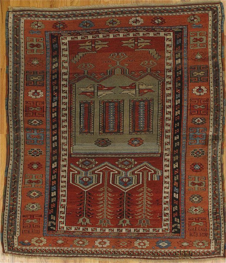 Yuruk Prayer Rug From Eastern Turkey Age Circa 1870 Size 4