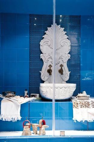 Harika Hamam Tarzı Banyo Dekorasyonu · kadincasayfa.com | kadincasayfa.com