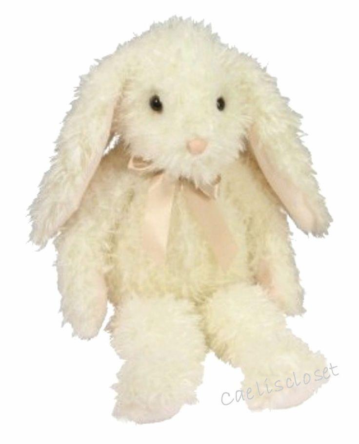 "Douglas Plush Stella IVORY BUNNY 18"" Long Soft Rabbit Big Stuffed Animal NEW #DouglasCuddleToy"