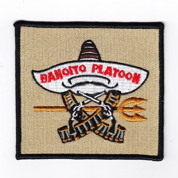 100% TAN ACT OF VALOR Bandito Platoon SealTeam6 Morale Embroidery Patch