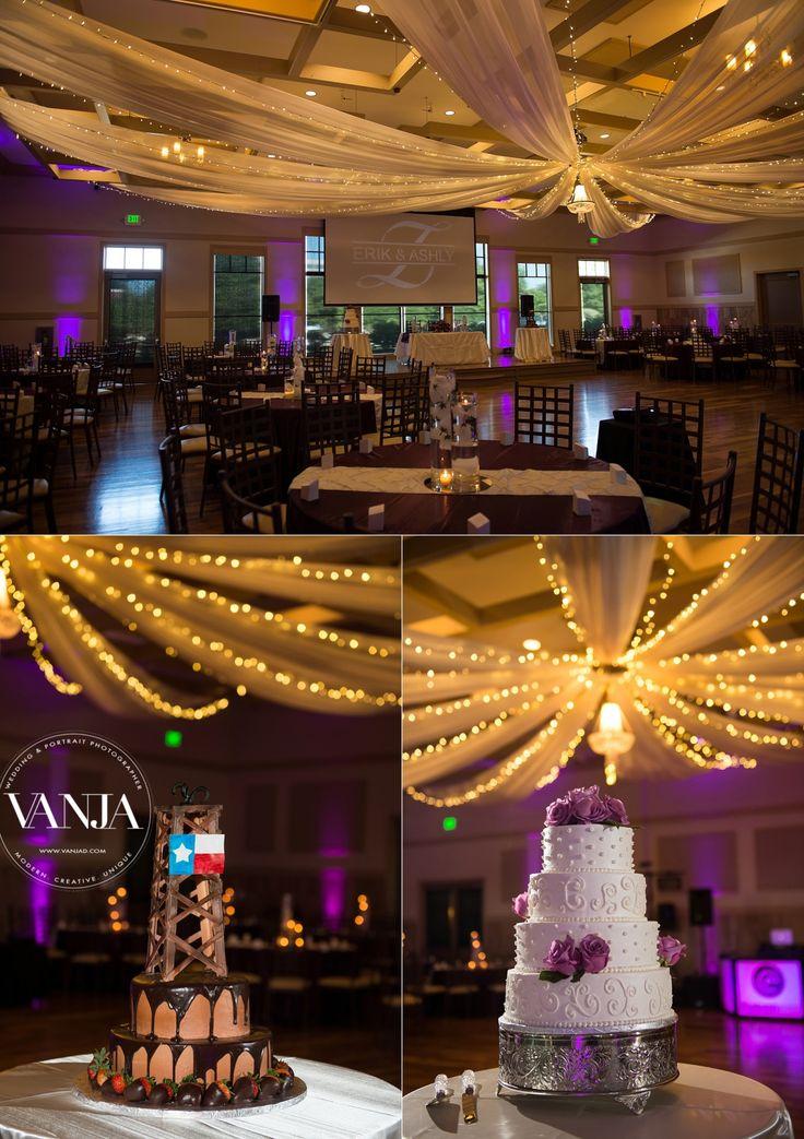 Noahs Event Center Irving Las Colinas Wedding Gorgeous Reception Hall Setup With Beautiful Chandelier Drape