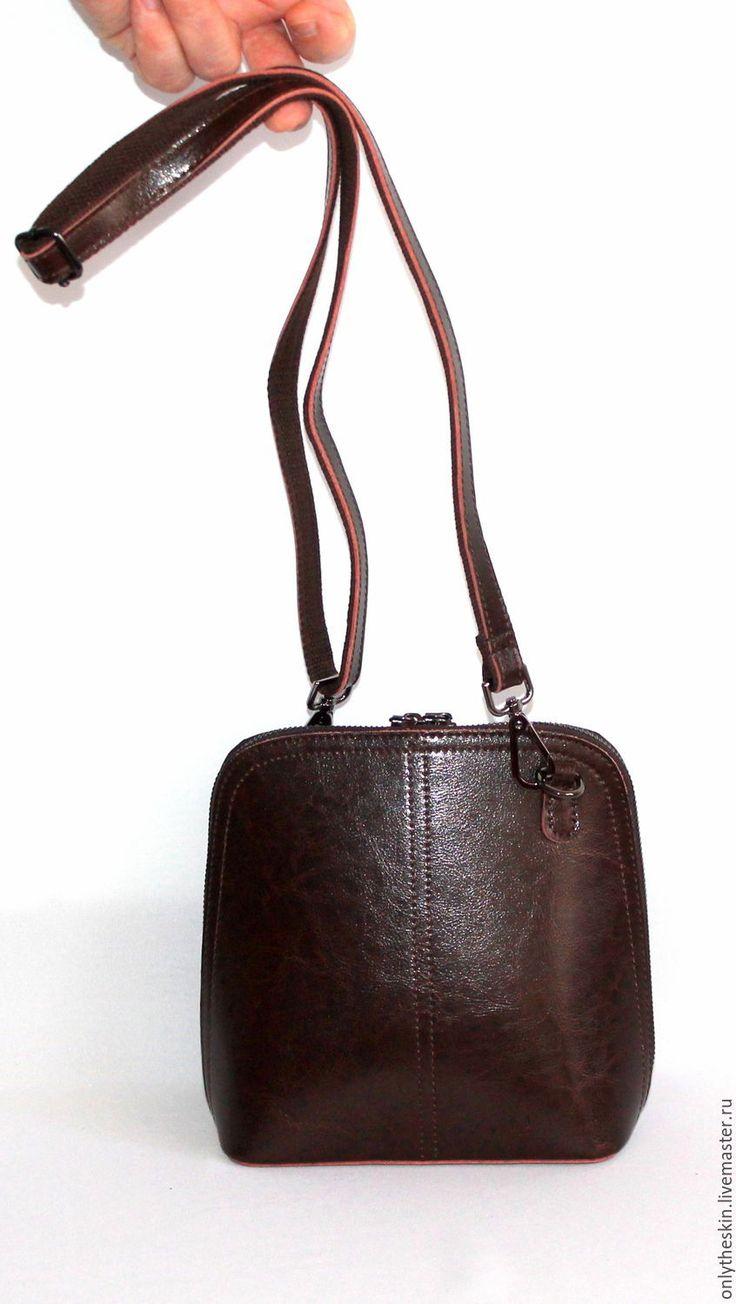 Купить Коричневая (шоколадная) стильная женская сумка. Натуральная кожа(Ж101) - коричневая кожаная сумка