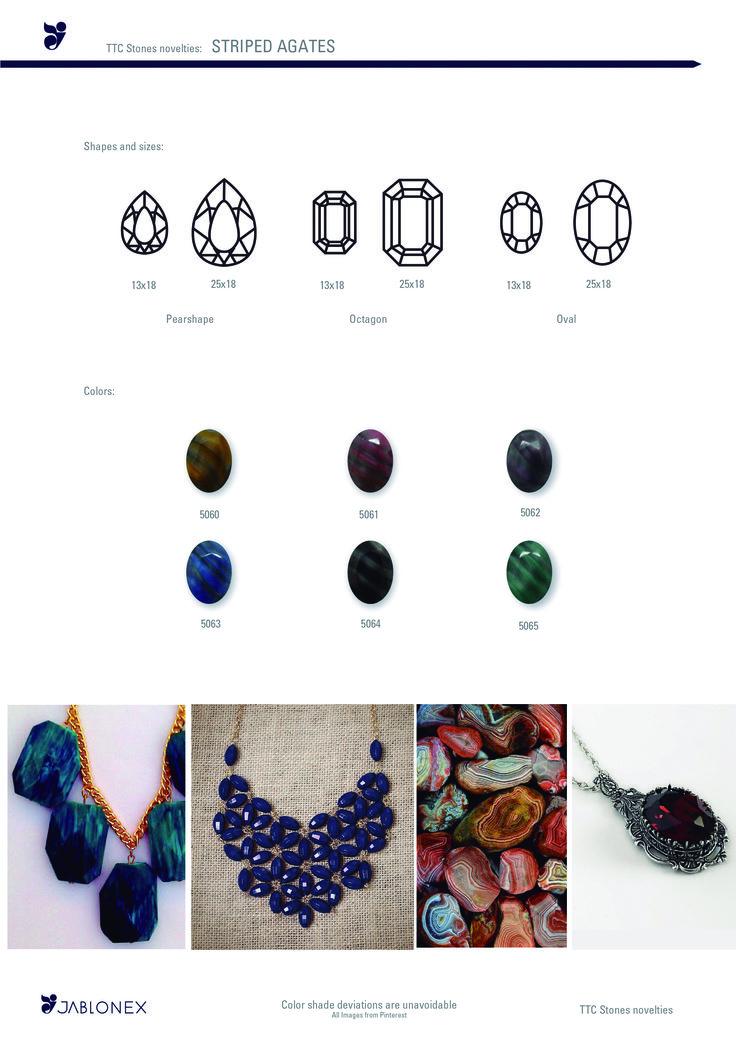 Jablonex® - TTC Stones Striped Agates