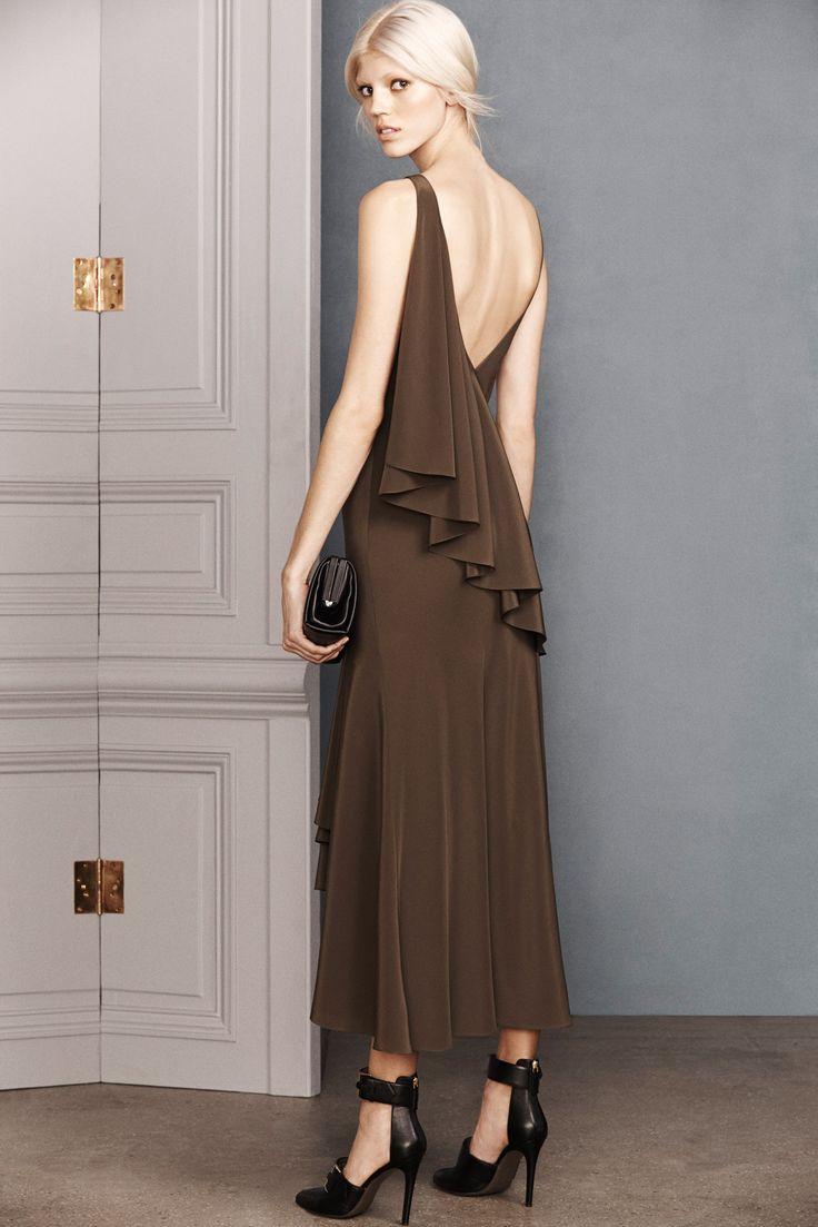 Jason Wu Pre-Fall 2014 Fashion Show - Devon Windsor.  I like the fall of the draping along the back.