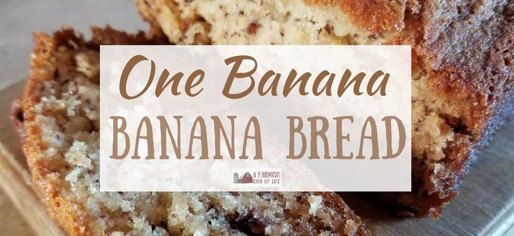 Ever wanted to make banana bread, but only had one. lone. banana? Never fear! You can totally make banana bread with the mashings of one banana. Here's how!