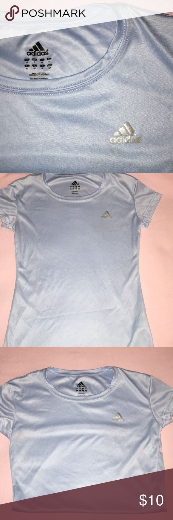 Adidas Dri-fit Workout Shirt Light blue Adidas workout shirt. Very lightweight, cooling material. Worn once, in perfect condition! adidas Tops Tees - Short Sleeve