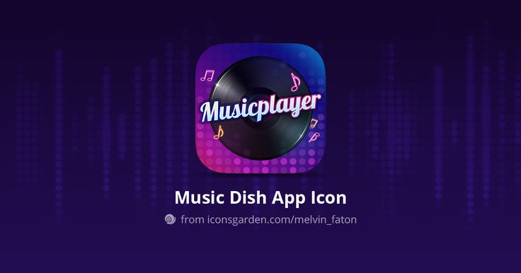 Music Player Dish icon by Melvin Faton, download now https://iconsgarden.com/icon/music-player-dish-219