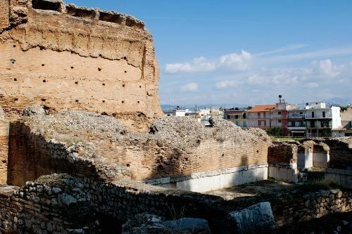 Argos -   Photo Caption: Ruins of baths at Argos.    Photo by Yannis Lefakis