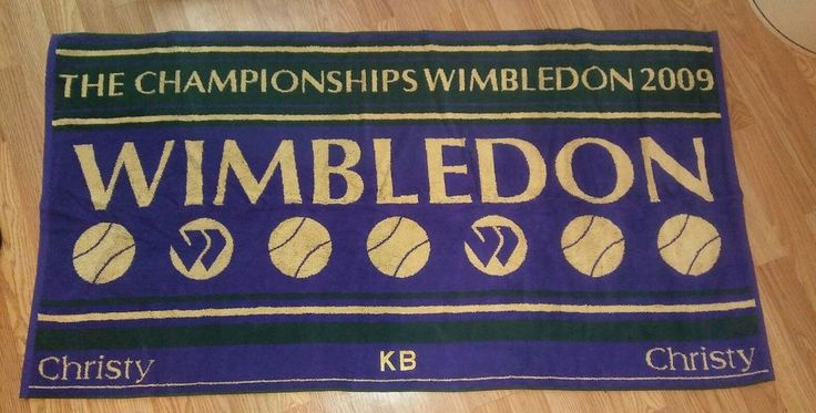 Wimbledon 2009 purple Mens Championship tennis Towel Official in case. NEW and never been used. Hard to find year 2009. Comes in clear zip up carring case that has a shoulder strap. | eBay!