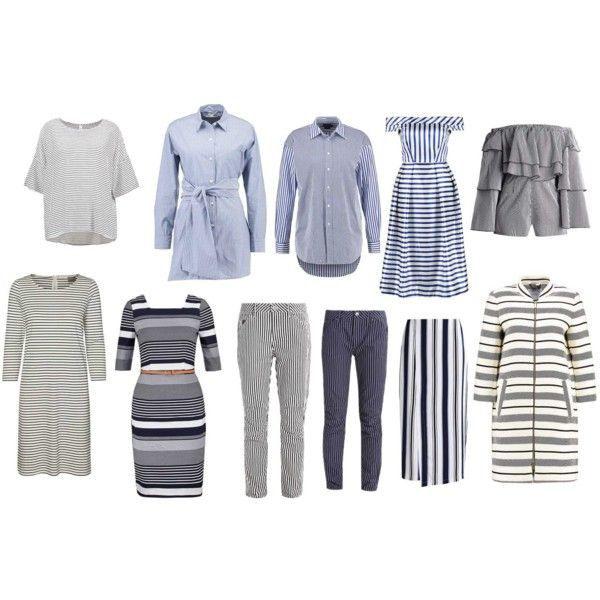 love stripes for summer type of beauty by colour-code on Polyvore featuring moda, G-Star, Vero Moda, Club Monaco, Soyaconcept and Kiomi