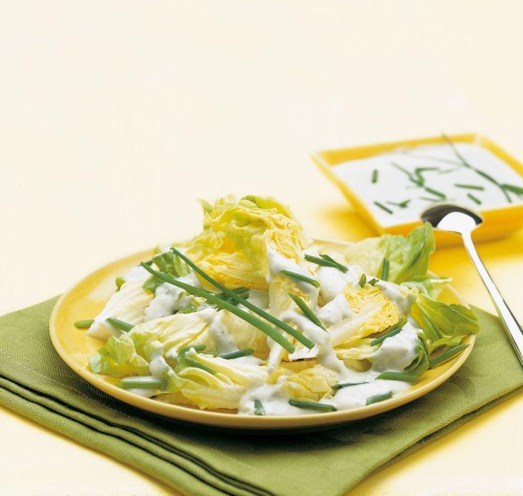 Insalata di lattuga con vinaigrette al gorgonzola ricetta