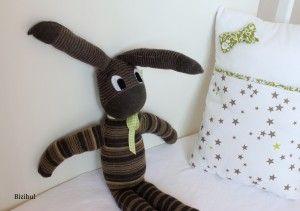 Le doudou chaussette lapin #Couture - Bizibul