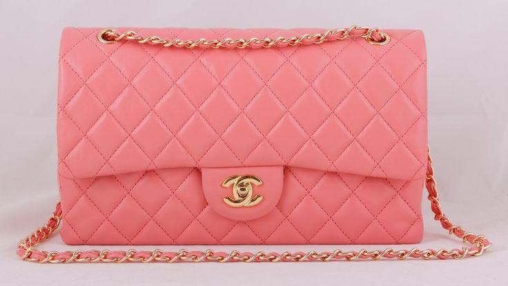 Сумка CHANEL Classic Flap Bag нежно-розовая итальянская кожа