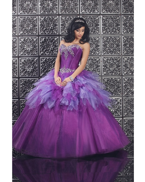Hot Sale Sweetheart Corset Gothic Purple Wedding Dress: 52 Best Images About Purple Quinceanera Dresses On