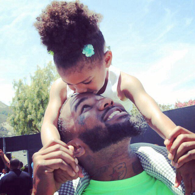 The Game and his daughter | Pinterest : @locoxlaxcoco