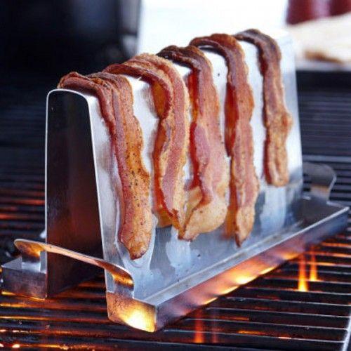 Bacon holder til grill rustfri stål