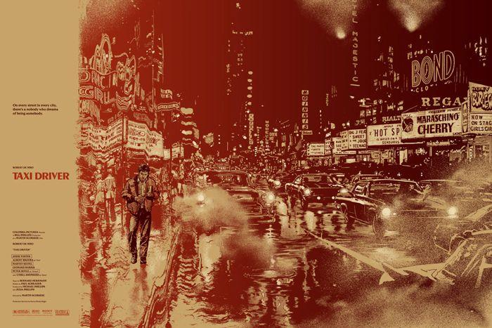 #PosterDesign | 'Taxi driver' por Martin Ansin  www.beewatcher.es