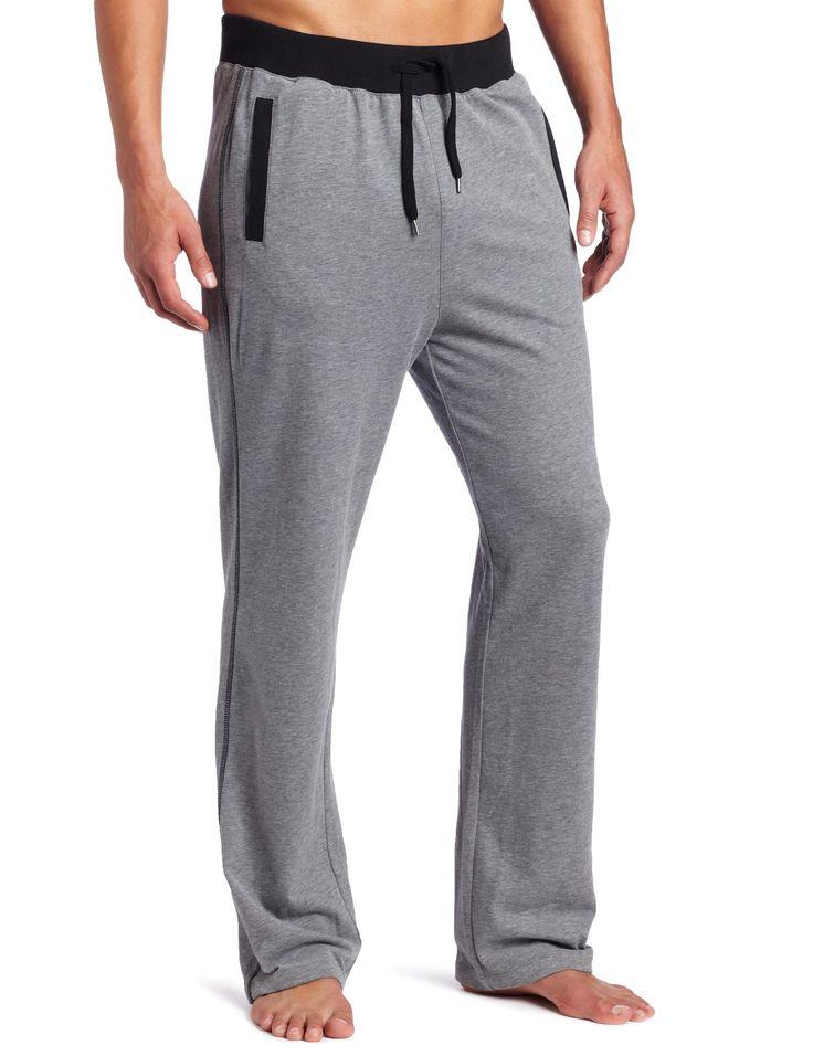 BOSS HUGO BOSS Men's Sleepwear Pant With Pockets, Grey, Small