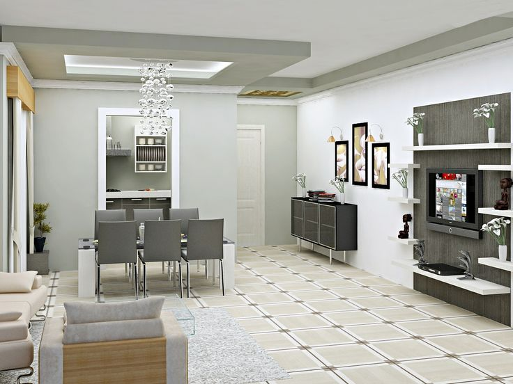 Dining and Living Room Interior Design  Click this link to view more details - http://Interiors.ApnaGhar.co.in/