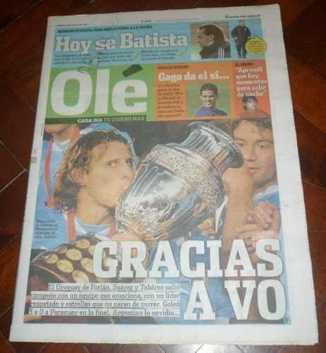 URUGUAY COPA AMERICA Champion 2011 SPECIAL OLE Newspaper   | eBay