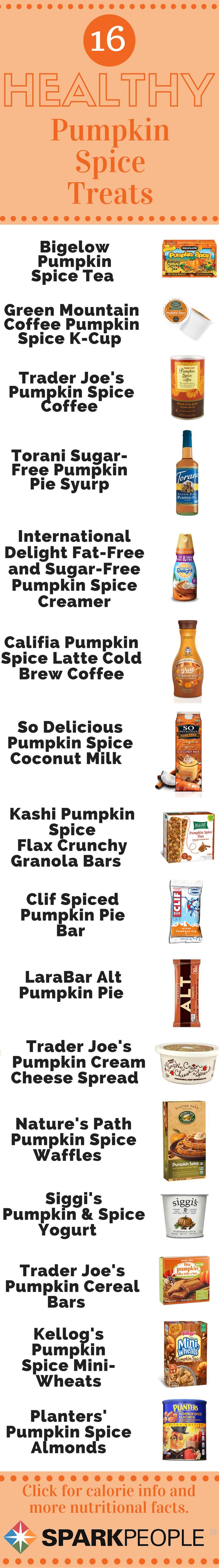 16 Seasonal Supermarket Treats Worth Trying. Try these yummy pumpkin foods with your family! | via @SparkPeople