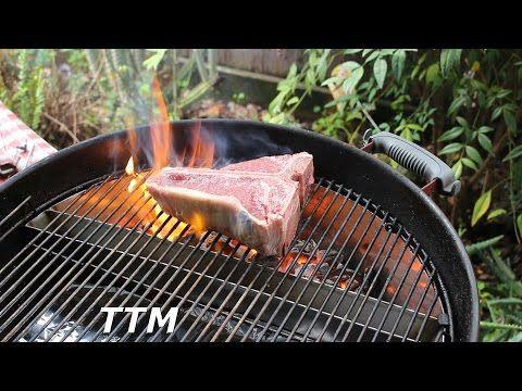 (5) Grilled Porterhouse Steak~Slow 'N Sear Weber Kettle BBQ Accessory Review - YouTube