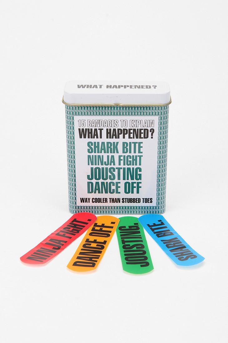 now these are just plain coolIdeas, Bandaid, Urban Outfitters, Ninjas Fight, Stuff, Happen Bandage, Sharks Bites, Band Aid, Things