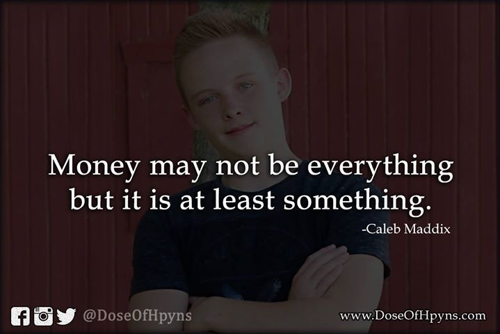 Money isn't everything?