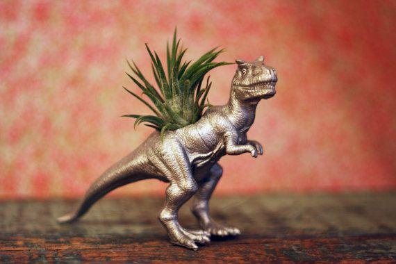 Dinosaur Planter TILLANDSIASAURUS TRex by TheGnakedGnome on Etsy, $15.00
