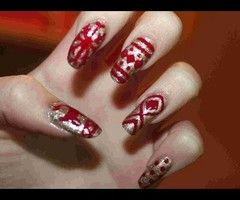Christmas Nail Art ❤ - YouTube
