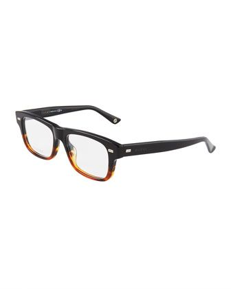Square Havana Acetate Glasses by Gucci at Neiman Marcus Last Call.