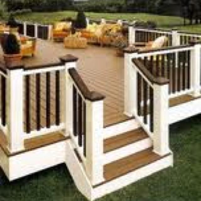 Decks Railings, Colors Schemes, Back Porches, House, Outdoor Spaces