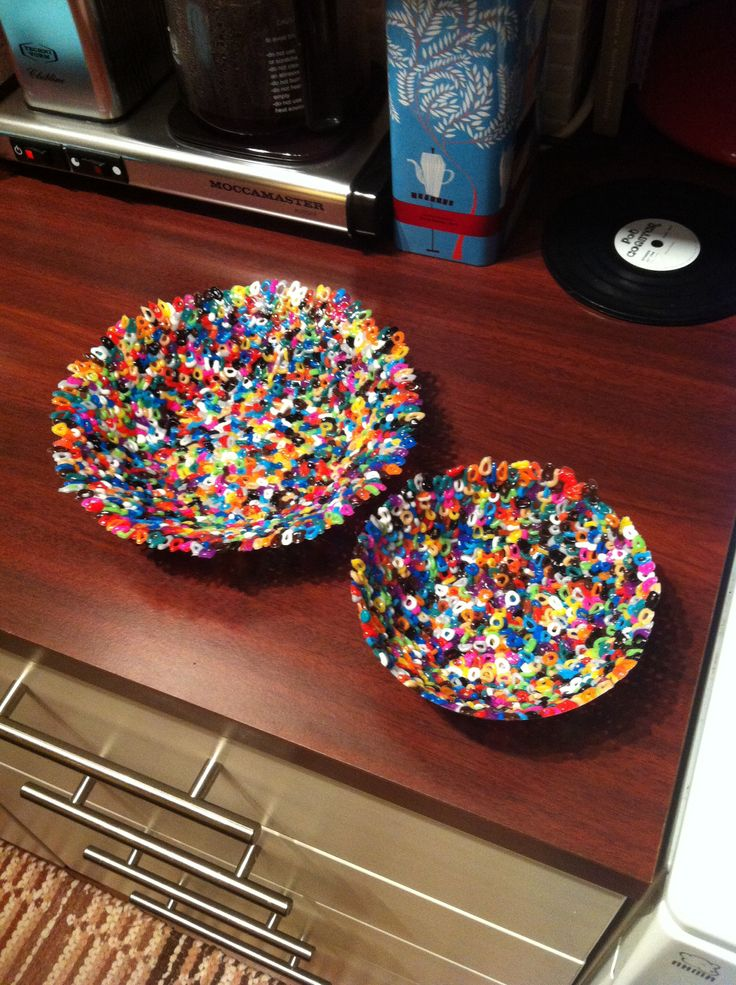 Hama bead bowl