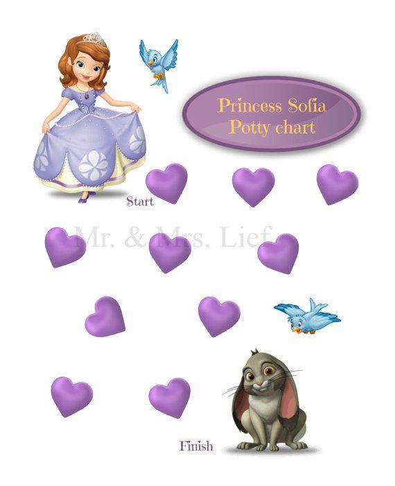 princess sofia the first potty chart printable print by