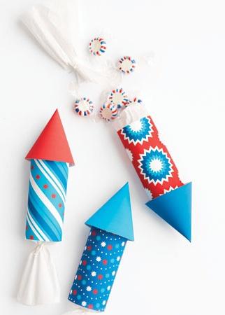 Cardboard Roll Rocket Craft for Kids